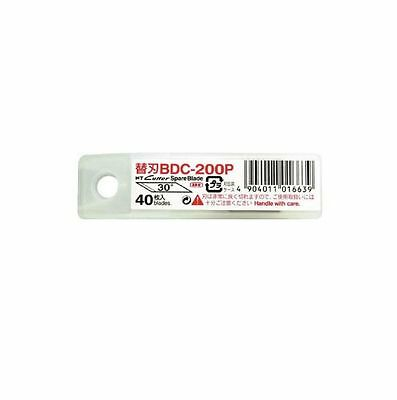 NT Cutter Spare Blade  DC type 30 Degree Blade BDC-200P 40 Blades per Pack