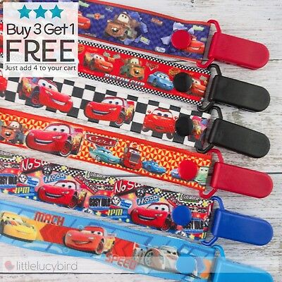 Cars Dummy Clips - Pacifier Clips - Soother Chain - Binky - Baby Gift