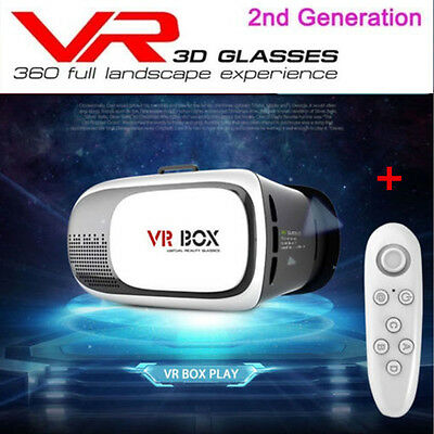 VR BOX 3D Glasses 2.0 Gen Virtual Reality Smartphone Bluetooth+ Remote Gamepad