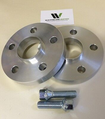 20mm VW AUDI 5x112 Hubcentric Wheel Spacers, 57.1 bore 10 Wheel Bolts UK Made