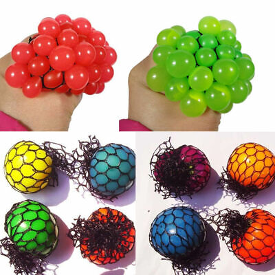 Novelty Squishy Colored Mesh Stress Ball Squeeze Stressball Party Bag Fun Gift