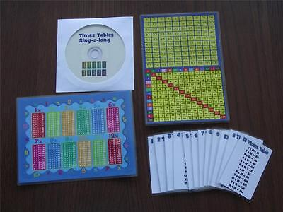Times Tables Learning Kit With Song Cd Flash Cards And More - Maths - Learning