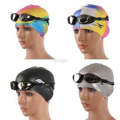 Adult Sports Silicone Swim Cap Flexible Durable Elasticity Swimming Hat Colorful