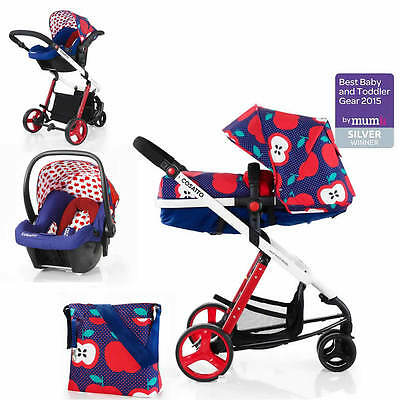 Cosatto Woop 2 in 1 Pram/Pushchair/Travel System with Hold Car Seat - Apple Seed