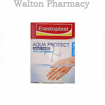 Elastoplast AQUA PROTECT Hand pack 16 Strips 3 sizes 100% water proof fingers
