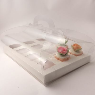 Clear Cupcake boxes for 12 mini cupcakes - premium quality -  Pack sizes: 5 |10