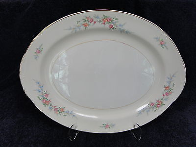 "Homer Laughlin Eggshell Nautilus Ferndale 15 1/2"" Oval Serving Platter MINT!"