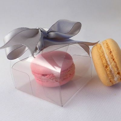 Clear single wrap macaroon / macaron boxes - premium quality: 10, 20, 50 and 100