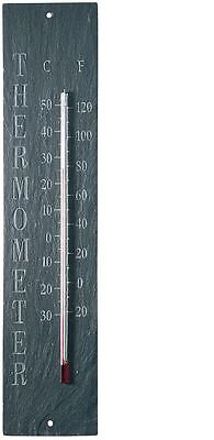 Large Slate Thermometer for the Garden. 45cm