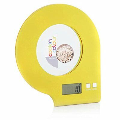 Cook In Colour MCK22003 5Kg Food Digital Glass Cooking Kitchen Scale Yellow