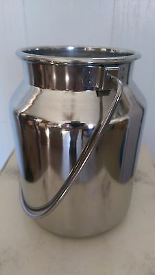 NEW Stainless Steel Milk Can with Lid - 5 qt capacity