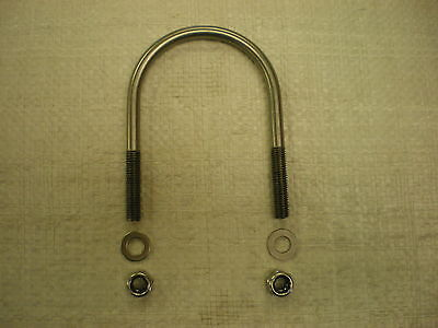 M8 A2 Stainless Steel U Bolt With Washers And Nylocks.