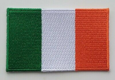 IRELAND FLAG PATCH Embroidered Badge Iron or Sew on 4.5cm x 6cm Eire Irish NEW