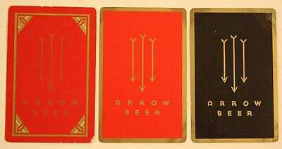 1940-50s Baltimore,Maryland Arrow Beer Globe Brewing Co.3-THREE playing card set