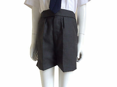 Boys Tailored School Shorts Charcoal Grey and Navy Fully Lined 24 26 27 Waist
