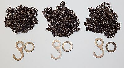 Cuckoo Clock Chain SET OF 3 ANTIQUE FINISH Fits Regula 25 35 70 NEW 61 Links/ft