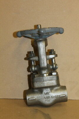 "Gate valve, 1/2"", SS, 1920psi @ 100 deg F, High temp 1000degF, 800 Smith Valves"