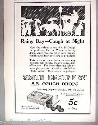 Smith Brothers' Cough Drops PRINT AD - 1915 ~~ Smith Bros.