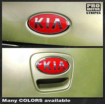 For KIA SOUL 2008-2016 Front & Rear Emblem Accent Overlay Decals (Choose Color)