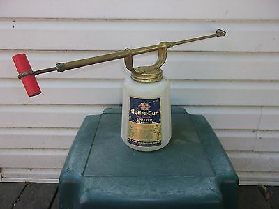 VGT 1960s HUDSON HYRA-GUN SPRAYER BRASS-PUMP CAP GARDEN FARM HOME BARN BUG DUSTE