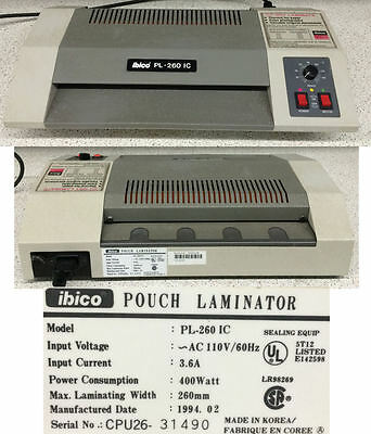 "Ibico Binding Systems PL-260 IC 12"" Pouch Heavy Duty Laminator"