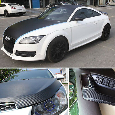 Qwrap 4D Carbon Black Air free Carbon Fibre Vinyl Wrapping Car  Different Sizes