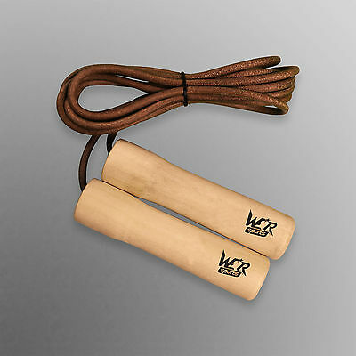 Leather Skipping Rope Jump Speed Exercise Rope Boxing Gym Fitness Workout