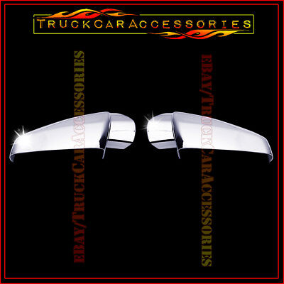 For CHEVY Equinox 2010-2013 2014 2015 2016 2017 Chrome Top Mirror Covers PAIR
