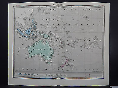 Antique Map 1843, Oceanie (Oceania, Australia)