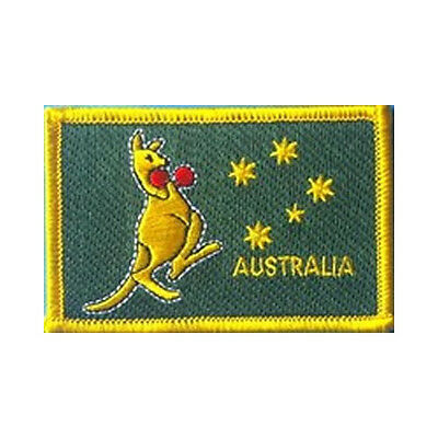 Boxing Kangaroo Flag Embroidered Patch 8.5 x 5.5cm Stitch Sew Iron On Cloth New
