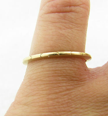 Antique 14k Yellow Gold Eternity Design Wedding Anniversary Band Ring Sz 6.75