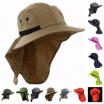 caf5f25ee63 Boonie Snap Hat Brim Ear Neck Cover Sun Flap Cap Hunting Fishing Hiking  Bucket