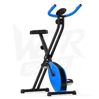 Folding Magnetic Exercise Bike Fitness Cardio Workout Weight Loss Machine - Blue