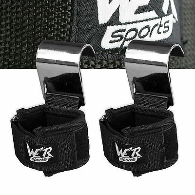 Power Weight Lifting Straps Hook Bar Pull Ups Fitness Training Exercise Workout