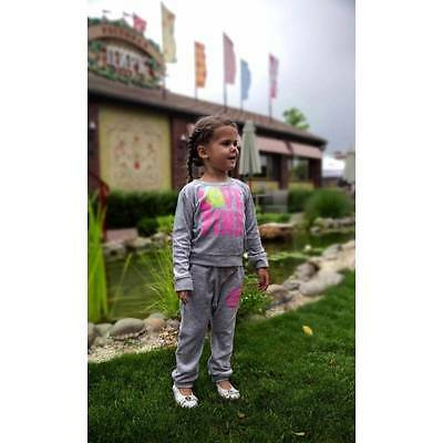 Marl Grey Girls Velour Tracksuit Age 2 Years Size 2 Years