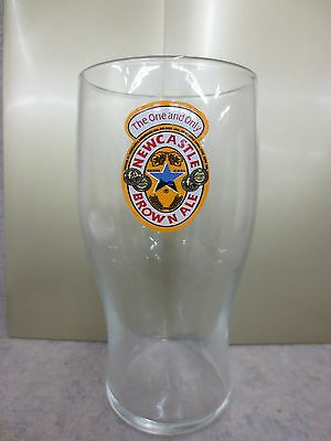 New Castle Brown Ale Beer Drinking Glass