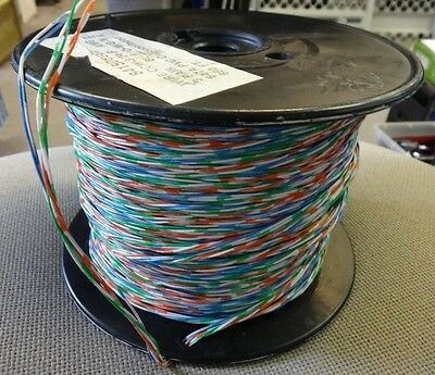 CCW-3/24-F TELECOM WIRE, 3 pair 6 conductor, 24 AWG, partial 660ft roll, LUCENT?