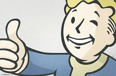 FALLOUT 4 22x34 VIDEO GAME 14725 VAULT BOY POSTER