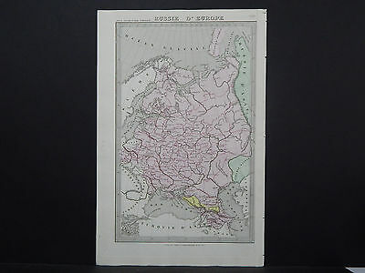 Antique Map 1845, Russie D' Europe (Russia in Europe)  R7#59