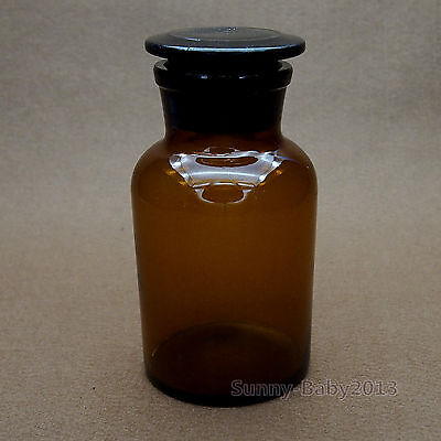 250ml Amber Brown  Glass Reagent Bottle,With Ground stopper,Laboratory Glassware