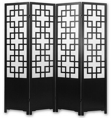 4 Panel Traditional Meji Japanese Shoji Screen /Room Divider