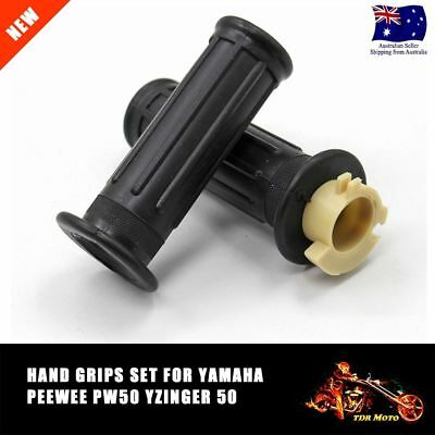 For YAMAHA PW 50 MOTORCYCLE HAND GRIPS PW50 PEE WEE 50 PY50 YZinger50 - BLACK