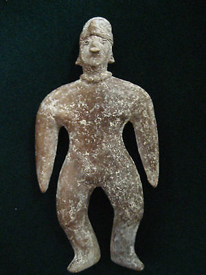 Authentic Precolumbian Colima Terra Cotta Pottery Figure - -Indian Artifact