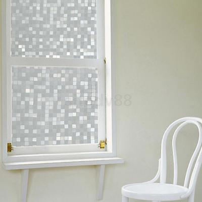 Static Cling Glass Window Film Sticker Privacy Frosted Waterproof Lattice