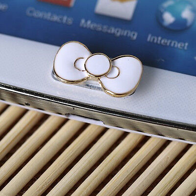 B3 Home Button Sticker - White Bowknot Bow Lovely Design for Samsung Galaxy