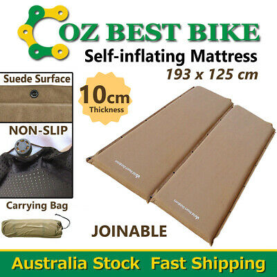 Double 10cm SELF INFLATING MATTRESS Suede Inflatable Camping outdoor