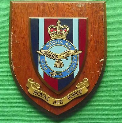 Old RAF Royal Air Force Squadron / Station Crest Shield Plaque