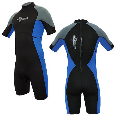 Cyclone 3mm Mens Shorty Wetsuit Surf Swim Kayak Shortie Beach Wet Suit XS-XXXL