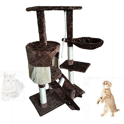 Condo Furniture Scratching Post Climbing Tower Kitten Cat Tree Pet Bed House