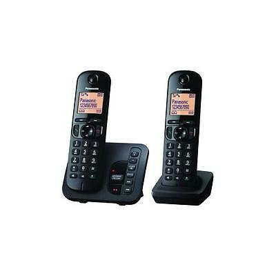 Panasonic KX-TGC222EB Easy To Use Cordless Telephone/Answering Machine - New